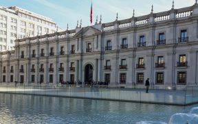 Espelho d'água no Palácio de la Moneda