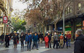 Paseo Ahumada no centro de Santiago