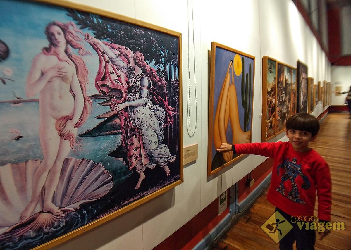 Réplicas de pinturas famosas para crianças