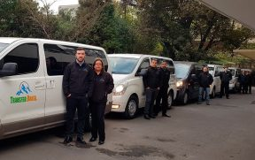 Frota da Transfer Brasil em Santiago