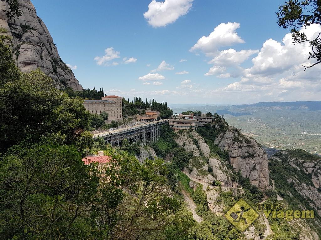 Vista do Monastério de Monstserrat