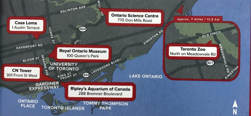 Atrações cobertas pelo Toronto CityPASS