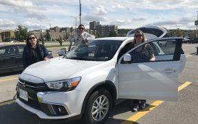 Alugamos um SUV compacto no Canadá