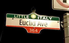 Placa de rua do Little Italy