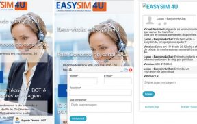 Suporte via chat da Easysim4u