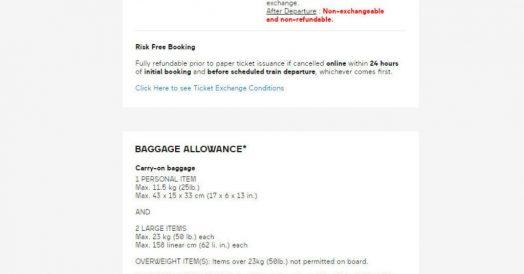 Confira também as regras de reembolso e bagagem