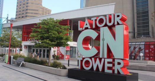 Entrada para a CN Tower