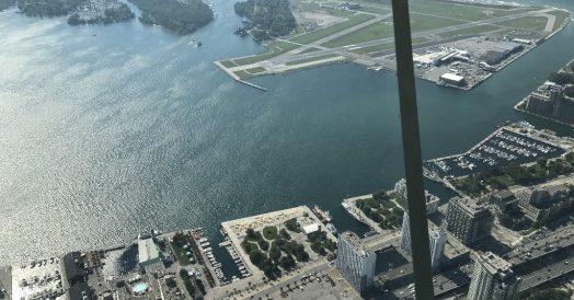 Vista das Ilhas de Toronto a partir do SkyPod