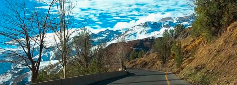 Cordilheira dos Andes vista do Caminho Farellones