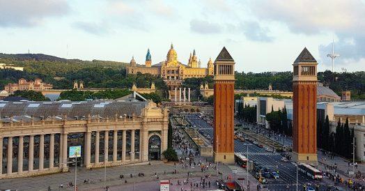 Plaça de Espanya vista do terraço do Shopping Arenas