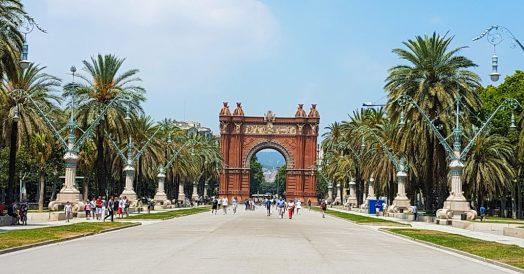 Arc de Triomf em Barcelona