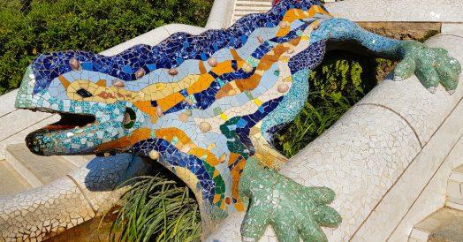 Park Güell: a Salamandra no detalhe
