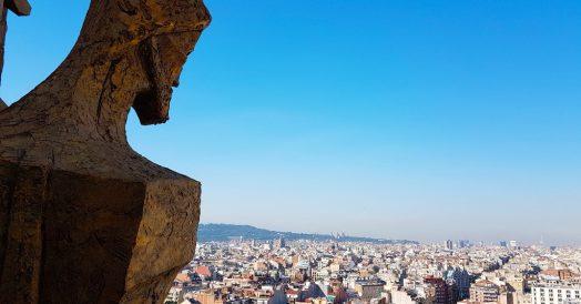 O que fazer em Barcelona: Vista da Torre da Sagrada Familia