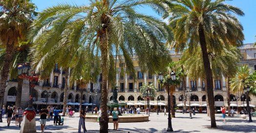 Plaça Reial em Barcelona
