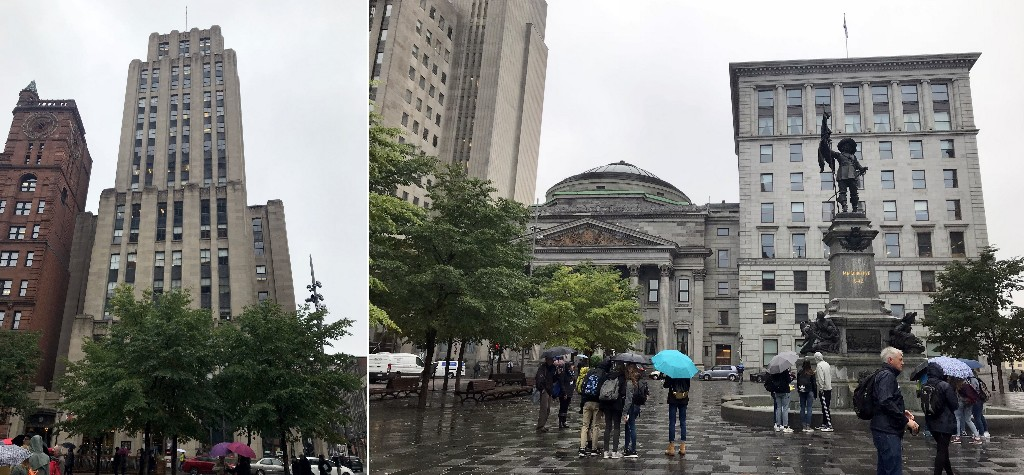 ESQ: NY Life e Alfred Building --- DIR: Place des Armes