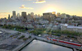 Por-do-sol em Montreal