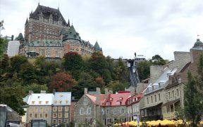 O Funicular compõe a vista da cidade de Quebec