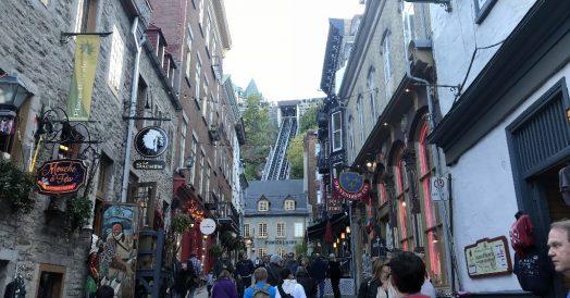 Rue Sous le Fort em Quebec