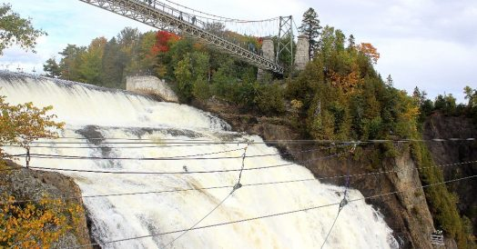 Cachoeira Montmorency próximo a Quebec