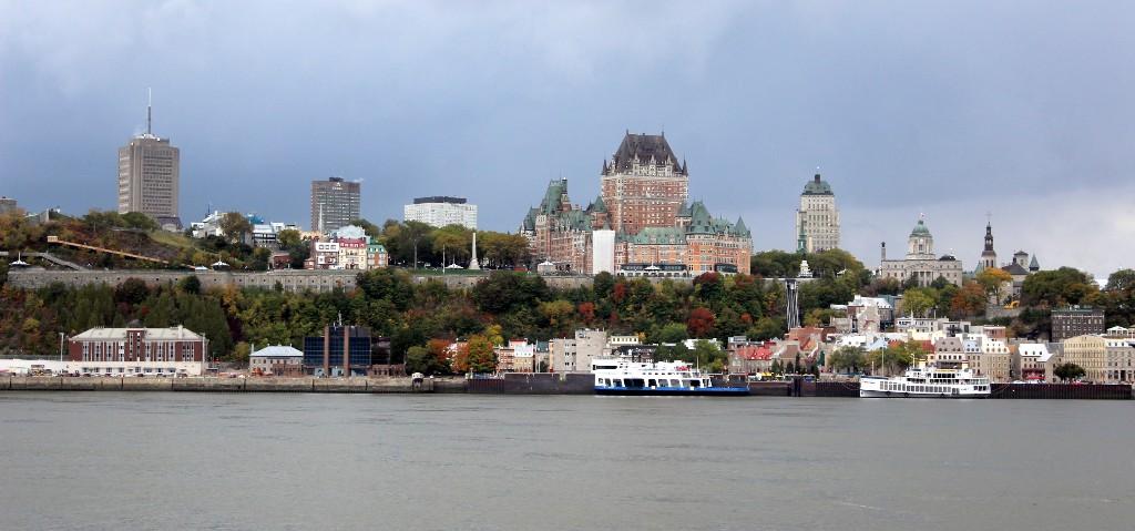Panorama de Quebec (City) a partir de Lévis