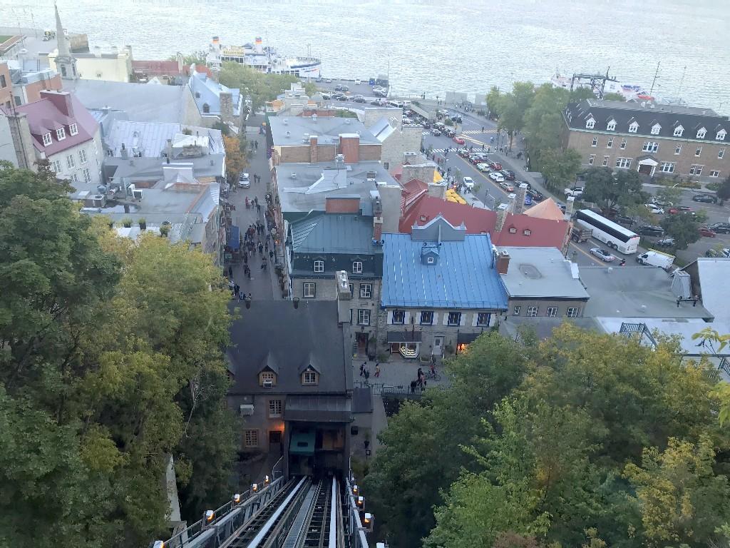 Basse-Ville de Quebec vista do Funicular