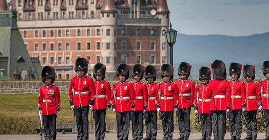 Troca da Guarda na Citadelle de Quebec
