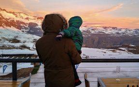 Lindo Pôr do Sol na Cordilheira dos Andes