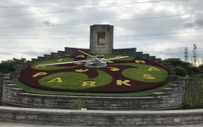 Floral Clock no trajeto da Niagara Parkway