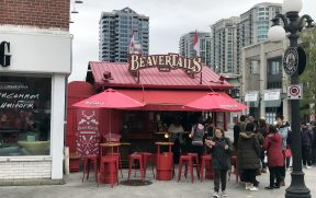O famoso quiosque do BeaverTails do local