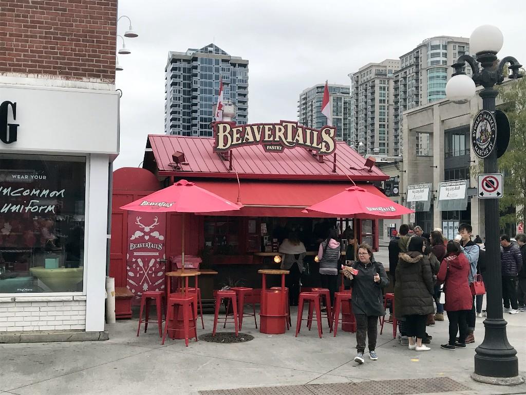 O famoso quiosque do BeaverTails do local