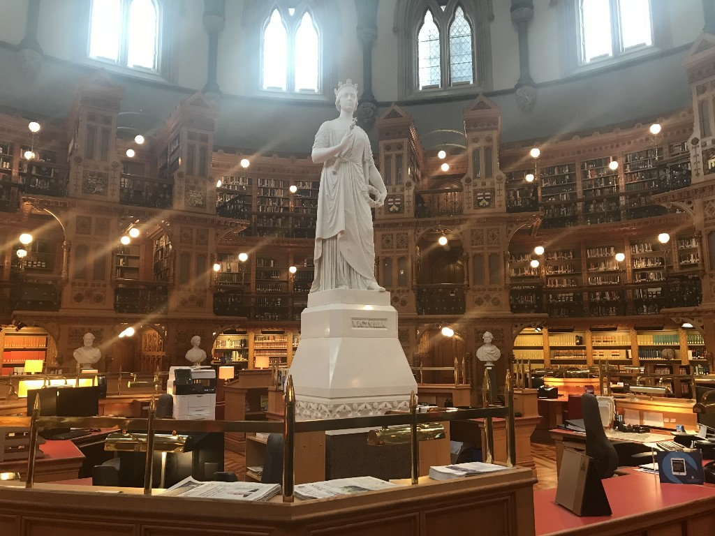 A Biblioteca do Parlamento em Ottawa