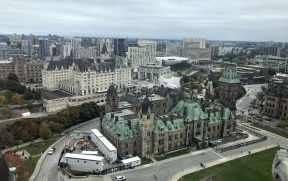 Vista de Ottawa a partir da Peace Tower