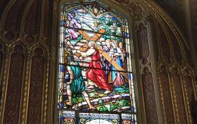 Um dos belos vitrais
