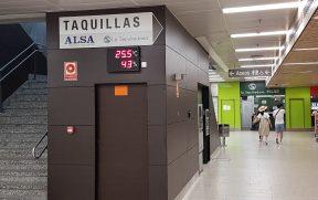 Guichê da cia La Sepulvedana na estação Moncloa