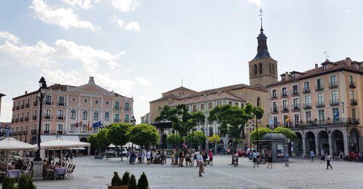 Plaza Mayor em Segóvia