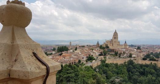 Segóvia vista da torre do Alcázar