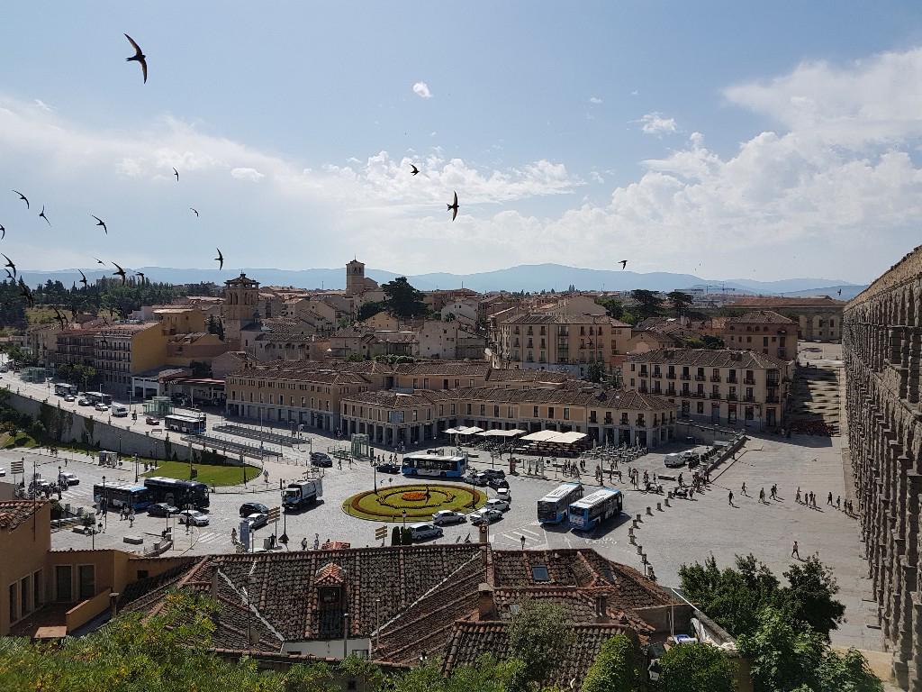 Vista do Mirador del Postigo em Segóvia