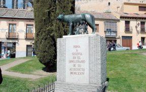 Escultura a Loba Capitolina em Segóvia