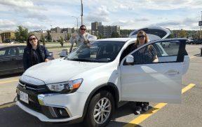 Alugamos um carro para ir até Niagara