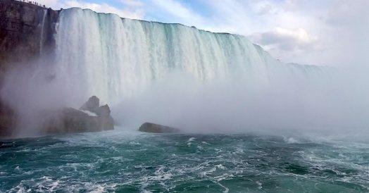 Chegando perto da catarata canadense