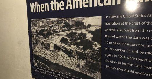 A interrupção das cataratas americanas