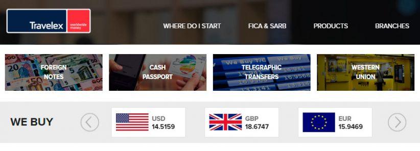 Travelex negocia a moeda da África do Sul