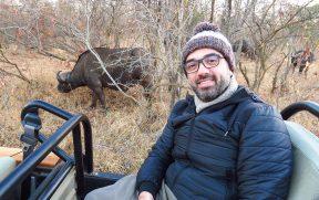 Pertinho dos Búfalos em Safári no Kruger