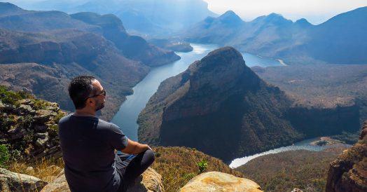 Rafa apreciando o Blyde River Canyon