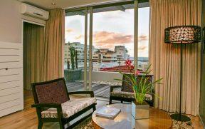 Vista do Quarto do Atlantic Affair Hotel