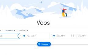 Busca Inicial do Google Flights