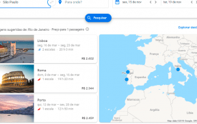 Destinos Sugeridos pelo Google Flights