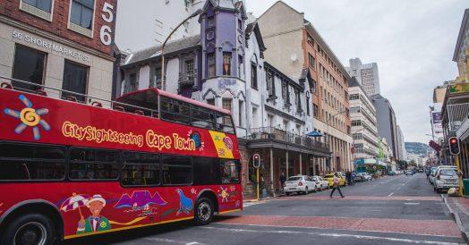 Long Street no Centro de Cape Town