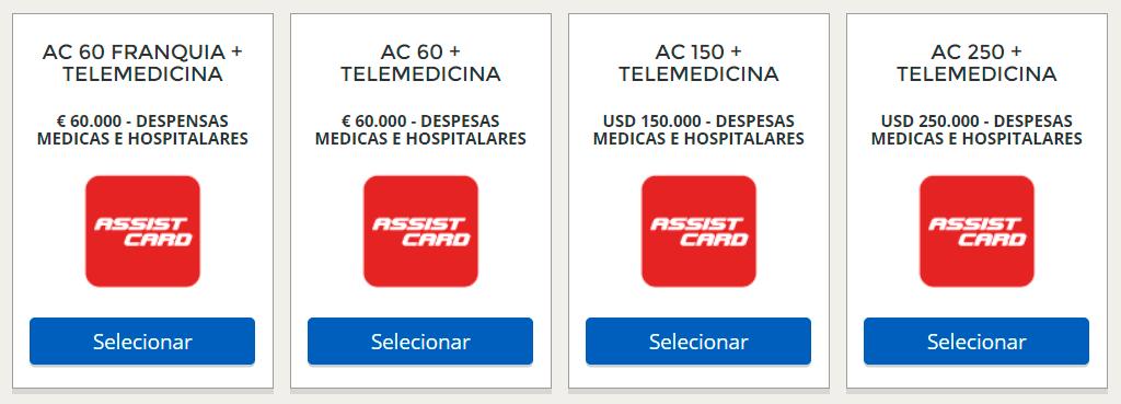 Planos da Assist Card