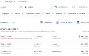 Resultado da Busca do Google Flights